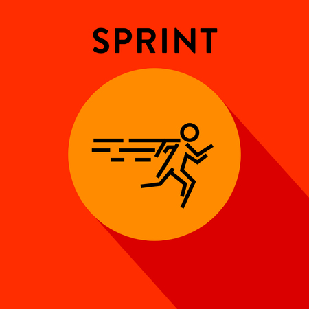 sprinter: Modern Sprinter Icon with Linear Style Illustration