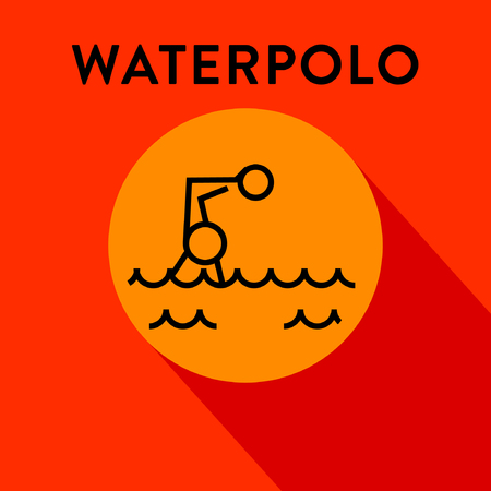 waterpolo: Modern Waterpolo Icon with Linear Style