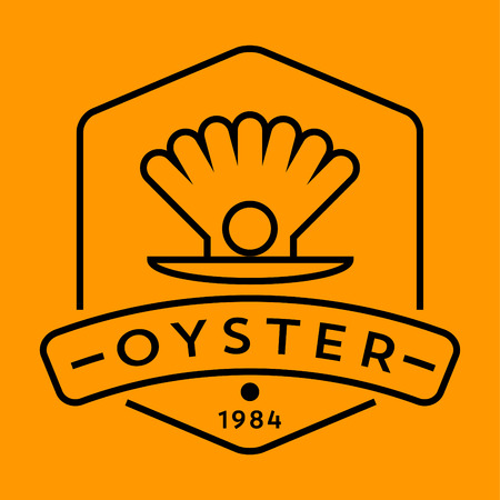 contemporary taste: Vector Oyster Icon with Linear Style