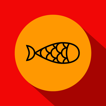 contemporary taste: Vector Fish Icon with Linear Style