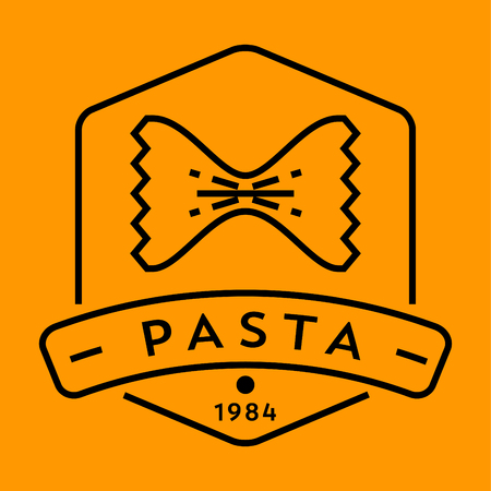 contemporary taste: Vector Pasta Icon with Linear Style