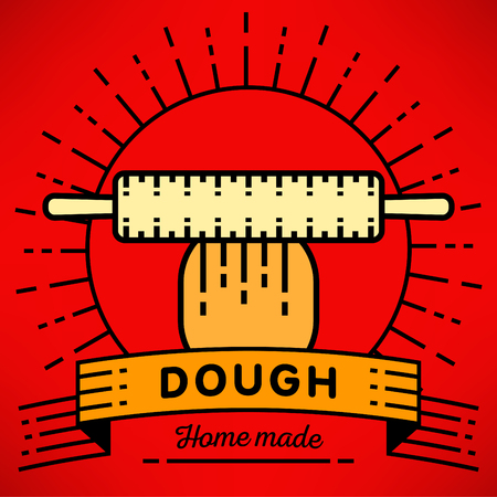 dough: Vector Dough Icon with Linear Style Illustration