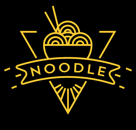 fareast: Vector Noodle Icon with Linear Style Illustration