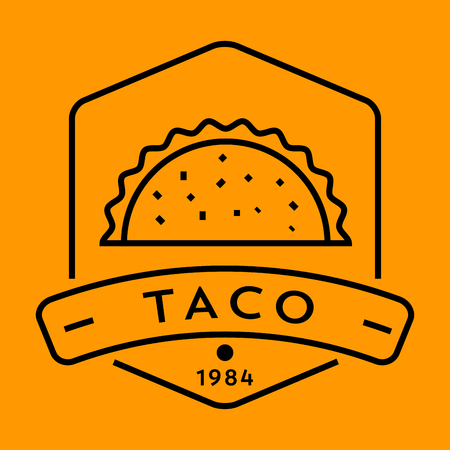 type bar: Vector Taco Icon with Linear Style