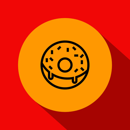 donut style: Vector Donut Icon with Linear Style