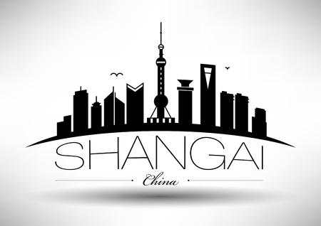 far east: Vector Shangai City Skyline Design