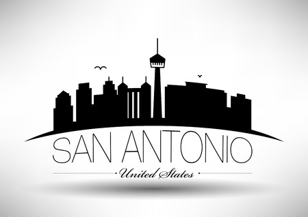 Vector San Antonio City Skyline Design