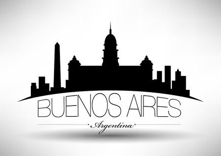 buenos: Vector Buenos Aires City Skyline Design