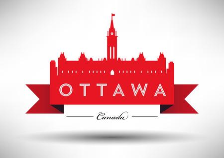 ottawa: Vector Ottawa City Skyline Design