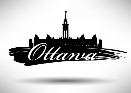 Vector Ottawa City Skyline Design