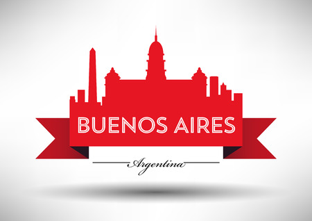 Vector Buenos Aires City Skyline Design