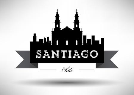 santiago: Vector Santiago City Skyline Design