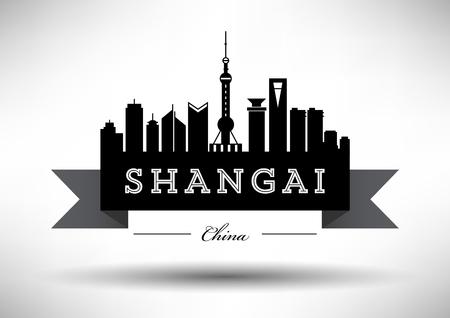 tv tower: Vector Shangai City Skyline Design