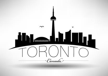 Vector Toronto City Skyline Design Illustration