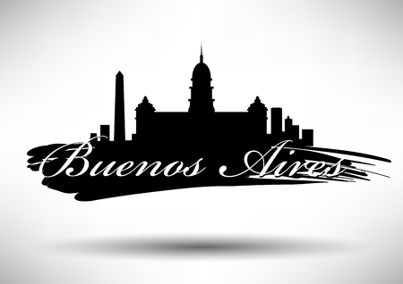 obelisk: Vector Buenos Aires City Skyline Design