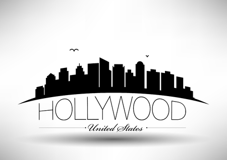 Vector Hollywood City Skyline Design