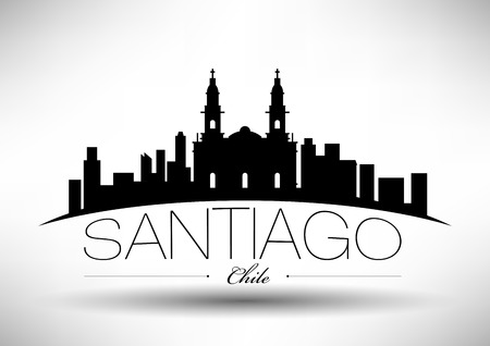 santiago: Vector Santiago City Skyline Design