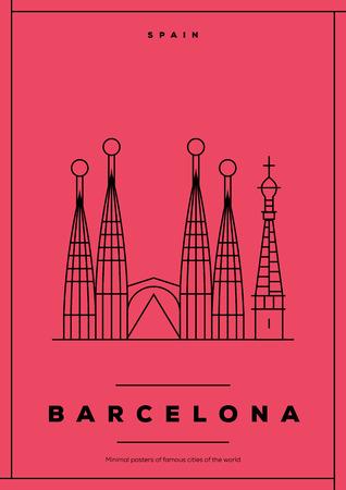 barcelona: Minimal Barcelona City Poster Design