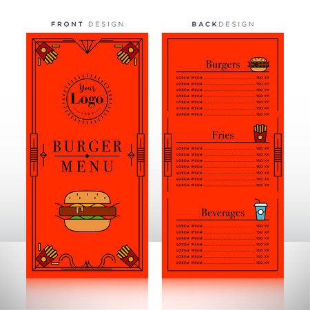 Chinese Food Menu Design Template Royalty Free Cliparts Vectors