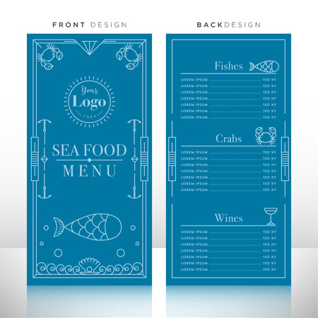 sea food: Sea Food Menu Design Template Illustration