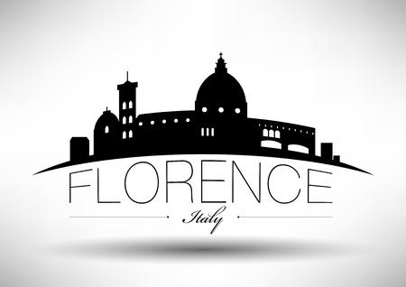 フィレンツェ市のスカイラインのベクトル グラフィック デザイン