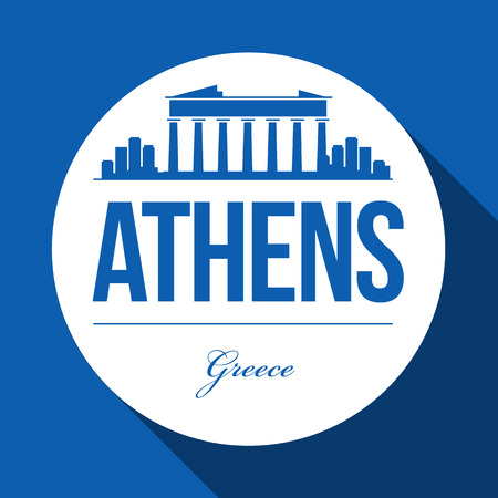 athens: Vector Graphic Design of Athens City Skyline