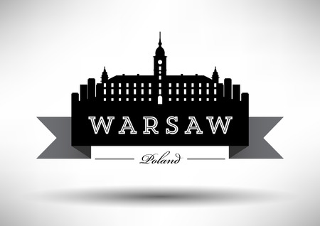 warsaw: Vector Graphic Design of Warsaw City Skyline