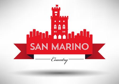 Vector Graphic Design of San Marino City Skyline