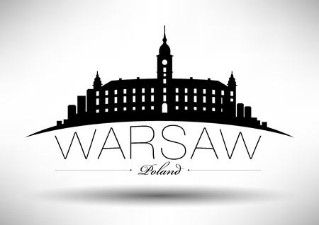 Vector Graphic Design van Warschau City Skyline