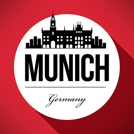 Vector Graphic Design of Munich City Skyline