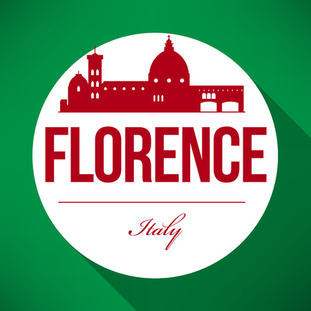ponte vechio: Vector Graphic Design of Florence City Skyline