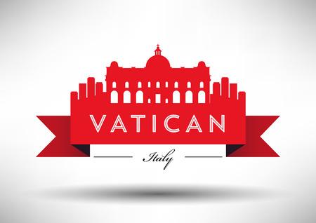 Vector Graphic Design of Vatican City Skyline