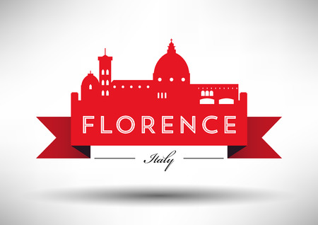 Vector Graphic Design of Florence City Skyline