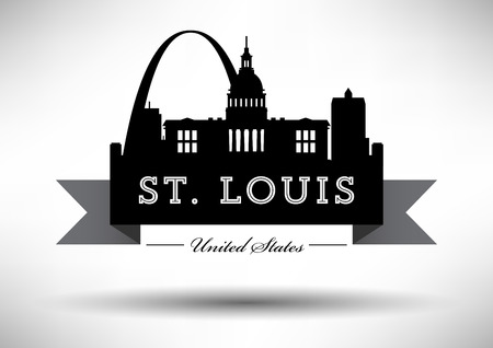 us congress: Vector Graphic Design of St. Louis City Skyline Illustration