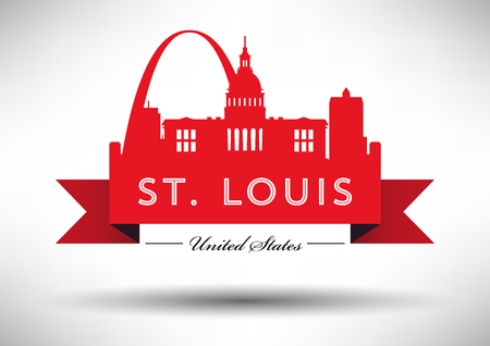 congress: Vector Graphic Design of St. Louis City Skyline Illustration