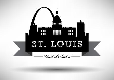 louis: Vector Graphic Design of St. Louis City Skyline Illustration