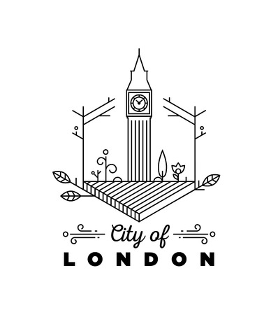 City of London Monogram Vector Design Template Illustration