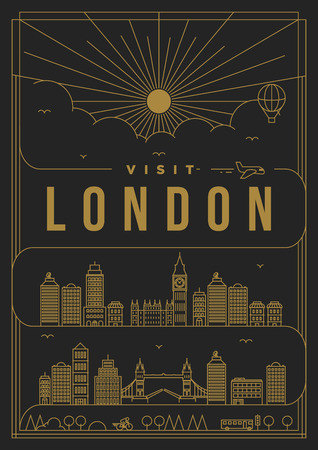 Linear Travel London Poster Design