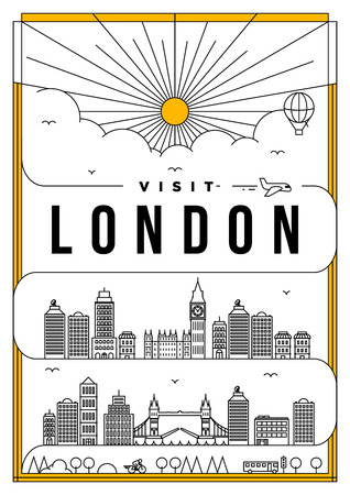 Linear Travel London Poster Design
