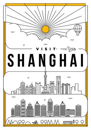 far east: Linear Travel Shanghai Poster Design