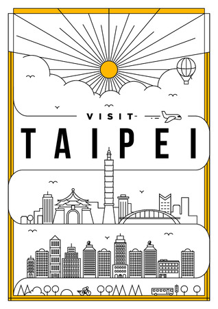 Linear Travel Taipei Poster Design
