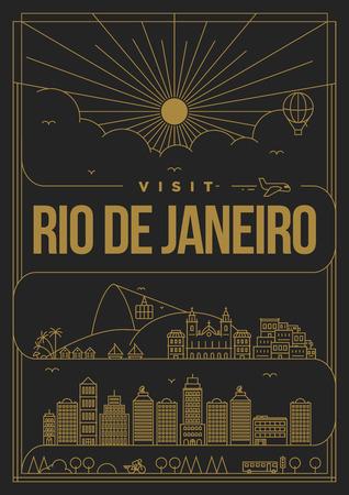 janeiro: Linear Travel Rio de Janeiro Poster Design