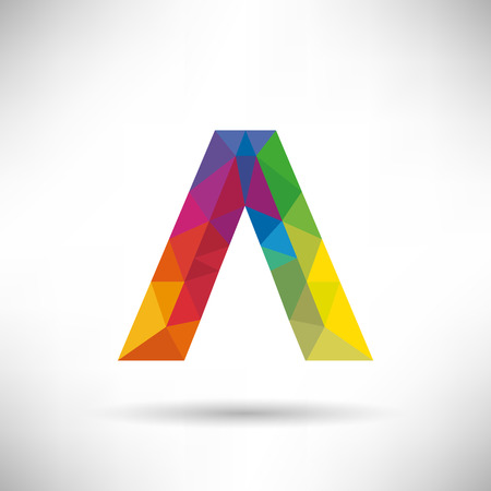 Geometric Letter A Icon and Logo Template. Illustration