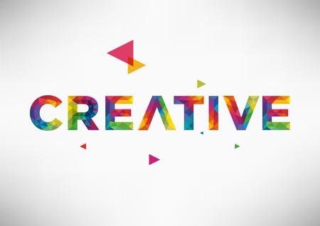 Modern Geometric Vector Design with Creative Word.