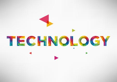 design: Modern Geometric Vector Design with Technology Word.