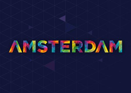 Geometric Amsterdam City Vector Design Иллюстрация
