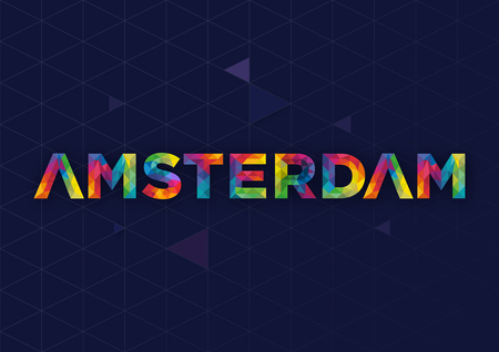 Geometrisch Amsterdam City Vector Design
