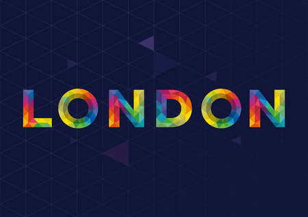 london city: Geometric London City Vector Design Illustration
