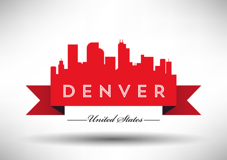 Vector Graphic Design of Denver City Skyline