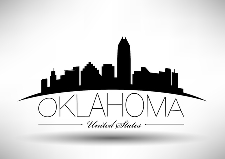 Vector Graphic Design of Oklahoma City Skyline